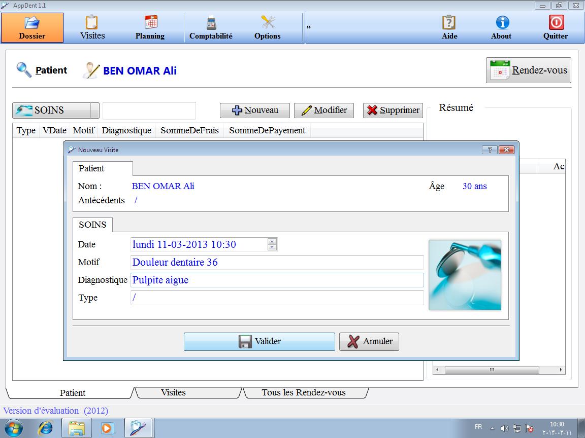 pr 233 sentation du logiciel logiciel de gestion d un cabinet dentaire